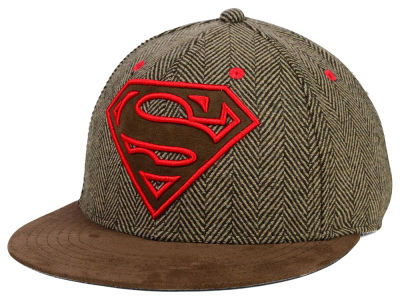 DC Comics Superman Herringbone w Emb Logo Hat