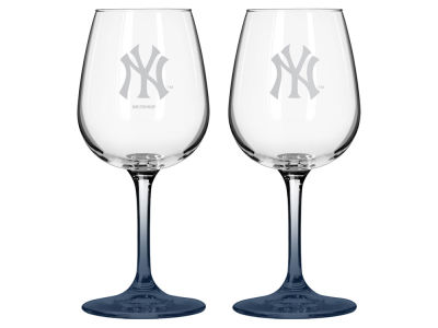 New York Yankees 2-pack Elite Wine Glass Set