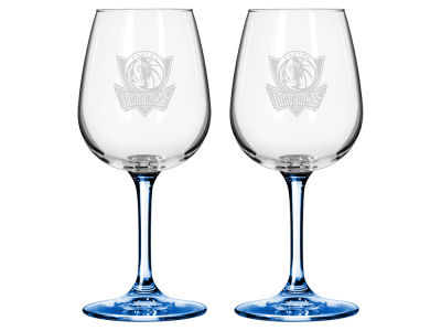 Dallas Mavericks 2-pack Elite Wine Glass Set