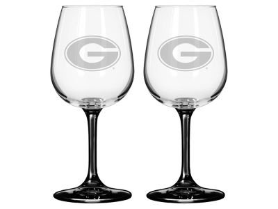 Georgia Bulldogs 2-pack Elite Wine Glass Set