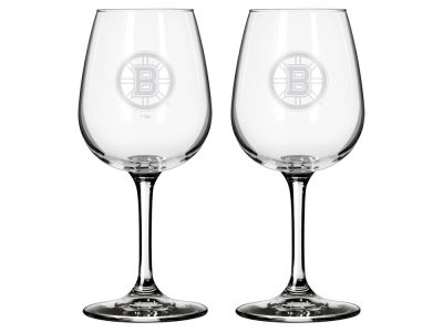 Boston Bruins 2-pack Elite Wine Glass Set