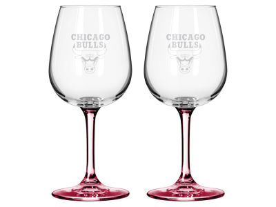 Chicago Bulls 2-pack Elite Wine Glass Set