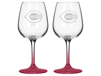 Cincinnati Reds 2-pack Elite Wine Glass Set