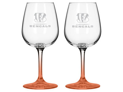 Cincinnati Bengals 2-pack Elite Wine Glass Set