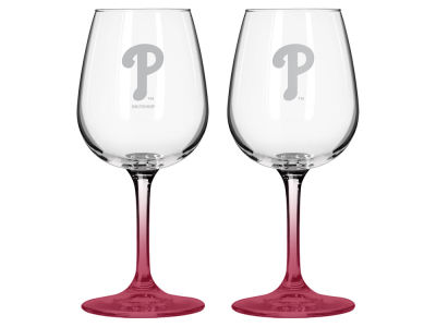 Philadelphia Phillies 2-pack Elite Wine Glass Set