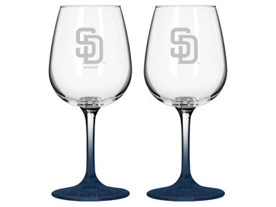 San Diego Padres 2-pack Elite Wine Glass Set