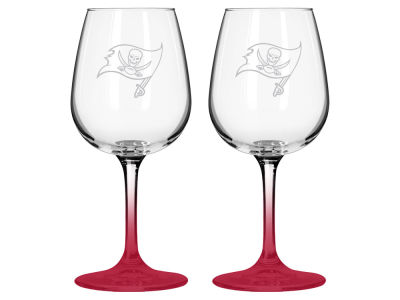 Tampa Bay Buccaneers 2-pack Elite Wine Glass Set