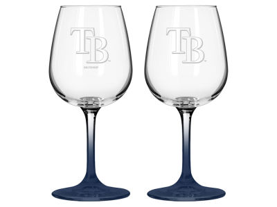 Tampa Bay Rays 2-pack Elite Wine Glass Set