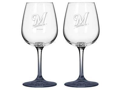 Milwaukee Brewers 2-pack Elite Wine Glass Set