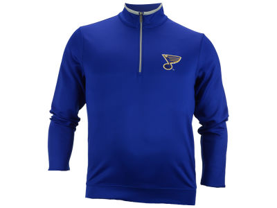 St. Louis Blues Antigua NHL Leader Quarter Zip Pullover