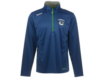 Vancouver Canucks Reebok NHL Men's CN Baselayer Quarter Zip Pullover