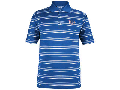 Kansas Jayhawks adidas NCAA Men's Puremotion Stripe Polo Shirt