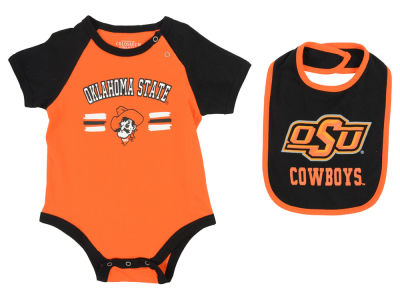 Oklahoma State Cowboys NCAA Infant Dribble Onesie & Bib Set