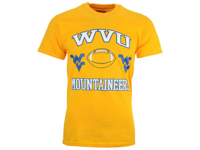 West Virginia Mountaineers NCAA Men's Heart & Soul Football T-Shirt