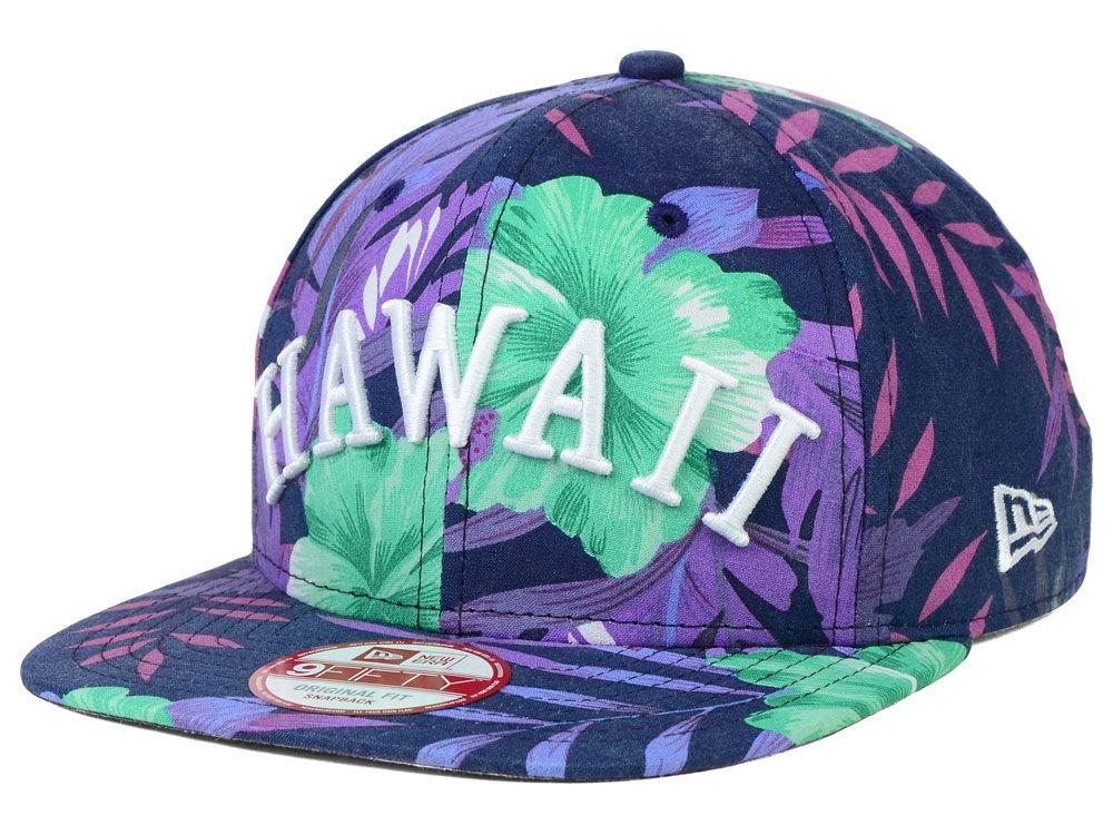 e1af79b1c66 New Era Hawaii Floral Print 9FIFTY Snapback Cap