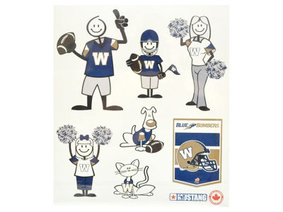 Winnipeg Blue Bombers Family Decals