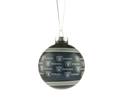 Oakland Raiders Glass Ball Ornament