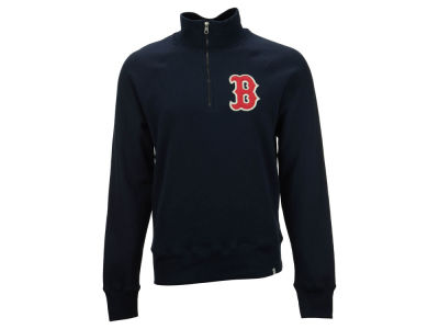 Boston Red Sox MLB Men's X-Check 1/4 Zip Up Pullover Shirt