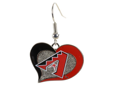 Arizona Diamondbacks Swirl Heart Earrings