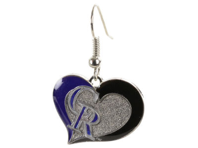 Colorado Rockies Swirl Heart Earrings