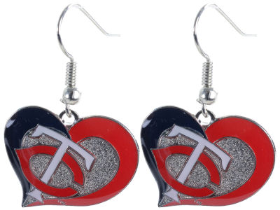 Minnesota Twins Swirl Heart Earrings