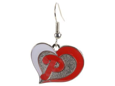 Philadelphia Phillies Swirl Heart Earrings