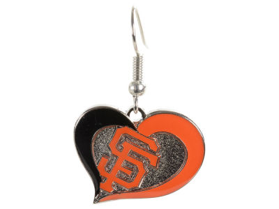 San Francisco Giants Swirl Heart Earrings