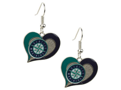 Seattle Mariners Swirl Heart Earrings