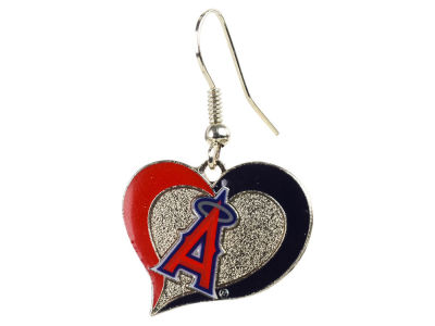 Los Angeles Angels Swirl Heart Earrings