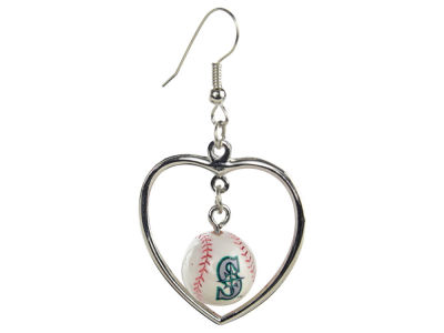 Seattle Mariners Aminco Mini Baseball Dangler Earrings