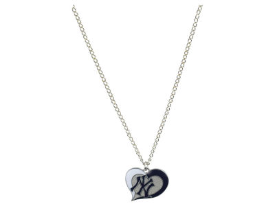 New York Yankees Aminco Swirl Heart Necklace