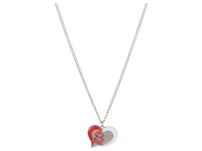 St. Louis Cardinals Swirl Heart Necklace