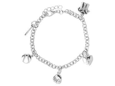Los Angeles Dodgers Five Charm Bracelet