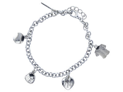 New York Yankees Aminco Five Charm Bracelet