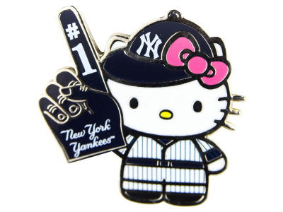 New York Yankees Hello Kitty #1 Fan Pin