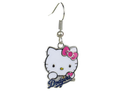 Los Angeles Dodgers Hello Kitty Wordmark Dangler Earrings