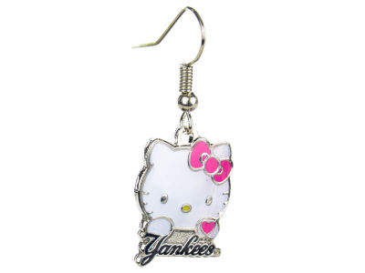 New York Yankees Hello Kitty Wordmark Dangler Earrings