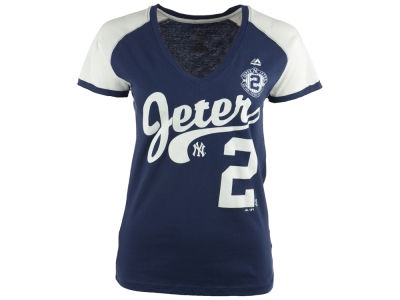 New York Yankees Majestic MLB Women's Derek Jeter NY2 T-Shirt