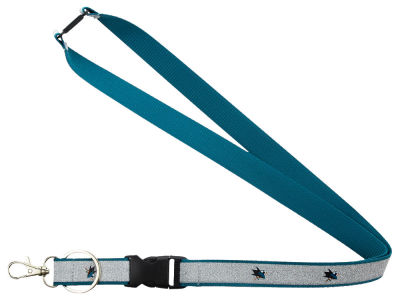 San Jose Sharks Sparkle Lanyard-Aminco
