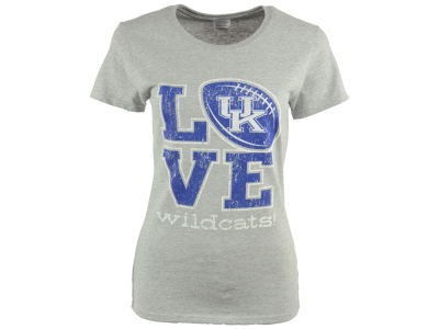 Kentucky Wildcats NCAA Women's Love Football T-Shirt