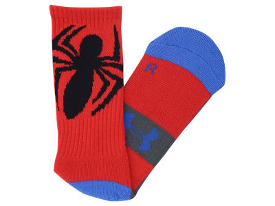 UA Superhero Big Logo Crew Socks