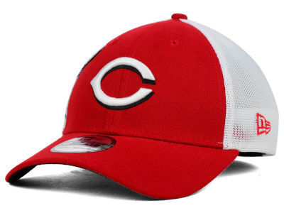 Cincinnati Reds New Era MLB Double Mesh 39THIRTY Cap