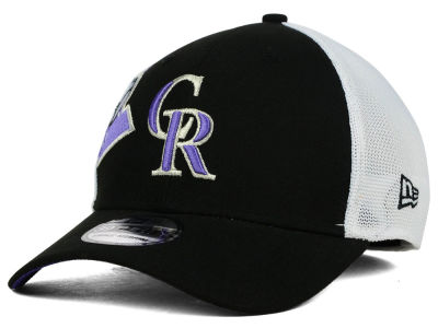 Colorado Rockies New Era MLB Double Mesh 39THIRTY Cap