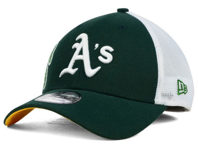 Oakland Athletics New Era MLB Double Mesh 39THIRTY Cap