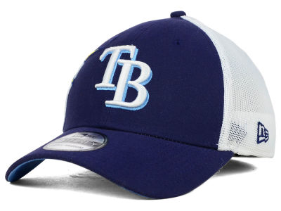 Tampa Bay Rays New Era MLB Double Mesh 39THIRTY Cap