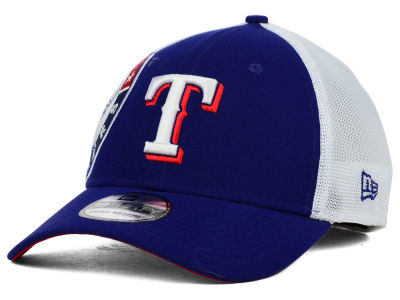 Texas Rangers New Era MLB Double Mesh 39THIRTY Cap