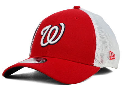Washington Nationals New Era MLB Double Mesh 39THIRTY Cap
