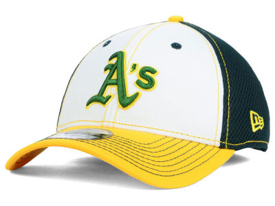 Oakland Athletics New Era MLB White Front Neo 39THIRTY Cap