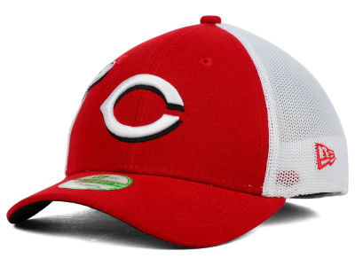 Cincinnati Reds New Era MLB Kids Double Mesh 39THIRTY Cap