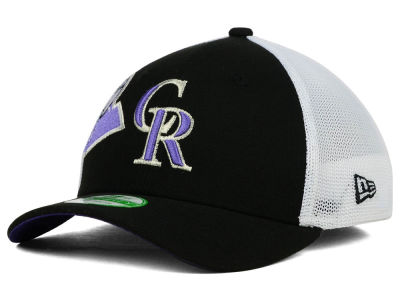 Colorado Rockies New Era MLB Kids Double Mesh 39THIRTY Cap